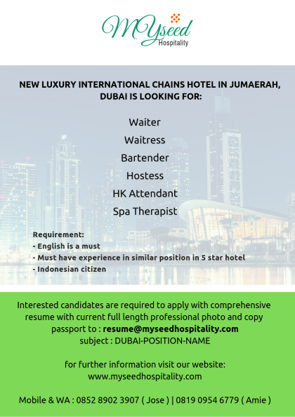 hotel jobs – NUMYSEED ACADEMY Hotel & Cruise Ship Training